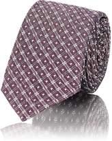 Fendi Men's Diamond-Jacquard Silk-Blend Necktie
