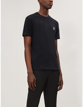 The Kooples Skull patch-embroidered cotton T-shirt