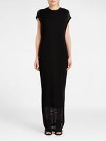 DKNY Crochet Stitch Maxi Dress