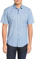 Zachary Prell Men's Caringella Check Sport Shirt