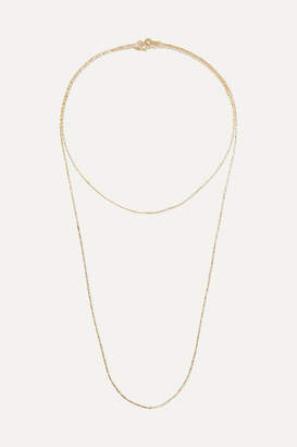 1064 Studio - Colors Of Shadow Set Of Two Gold-plated Necklaces - one size