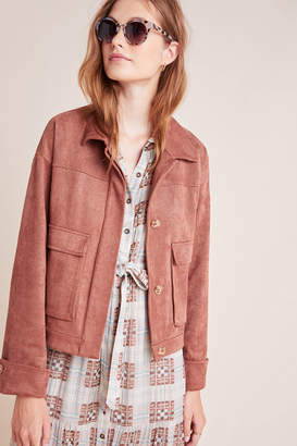 Greylin Violette Sueded Utility Jacket