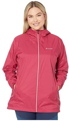Columbia Plus Size Switchbacktm Lined Long Jacket (Red Orchid/Red Orchid) Women's Coat