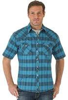 Wrangler Men's Retro Plaid Snap Short Sleeve Shirt