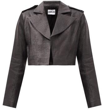 Duncan - Lady Godiva Cropped Coated-canvas Jacket - Black