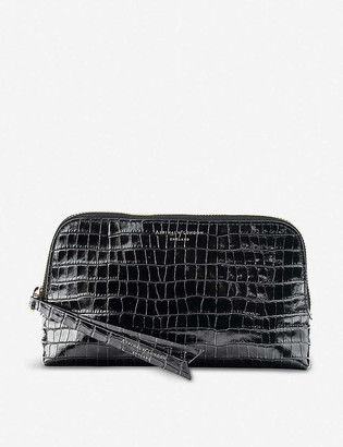 Aspinal of London Essential crocodile-embossed leather cosmetic case