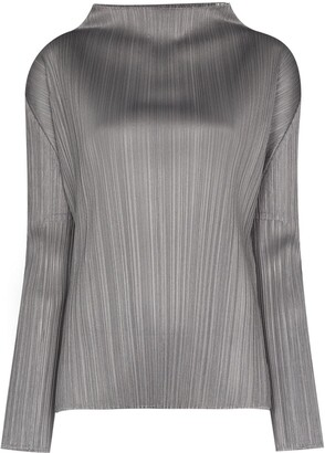 Pleats Please Issey Miyake Cowl-Neck Top