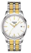 Tissot T0334102201101 Classic Dream Date Two Tone Bracelet Strap Watch, Silver/gold