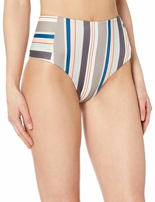 RVCA womens Off Shore HIGH Waist Bikini Bottom