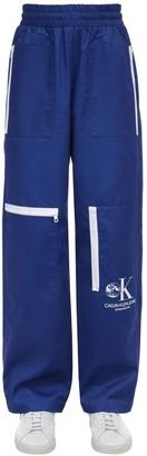 Calvin Klein Established 1978 GRAPHIC PRINTED TECH COTTON WORK PANTS