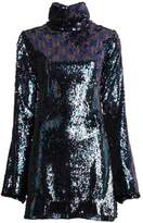 Halpern Mini Fitted Sequin Dress