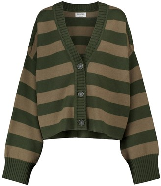 ATTICO Striped merino wool cardigan