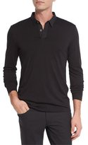Theory Jergen Long-Sleeve Polo Shirt, Black