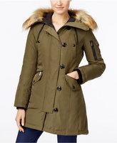 MICHAEL Michael Kors Hooded Faux-Fur-Trim Asymmetrical Down Parka Coat