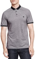 The Kooples Bicolore Pique Slim Fit Polo
