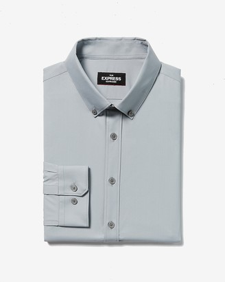 Express Slim Button-Down Wrinkle-Resistant Performance Dress Shirt