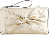 RED Valentino studded bow clutch - women - Leather/metal - One Size