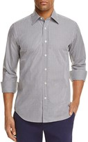 Canali Micro Gingham Regular Fit Button-Down Shirt