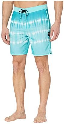 Hurley 18 Hibiscus Aloha Boardshorts (Aurora Green) Men's Swimwear