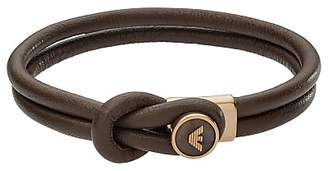 Emporio Armani Men's Leather Bracelet