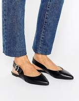 London Rebel Buckle Slingback Shoe