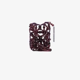 Susan Fang Burgundy Bubble Passport Cross Body Bag