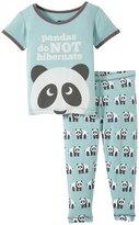 Kickee Pants Printed Pajama Set (Baby) - Jade Panda - 12-18 Months