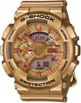 G-Shock Women's Analog-Digital Gold-Tone Resin Strap Watch 49x46mm GMAS110GD-4A2