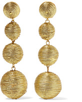 Kenneth Jay Lane Gold-plated Cord Earrings
