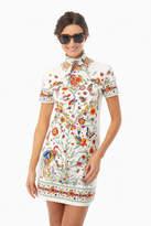 Tory Burch New Ivory Printed Scarf T-Shirt Dress