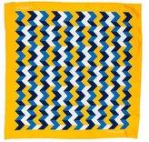 Turnbull & Asser Abstract Print Silk Pocket Square