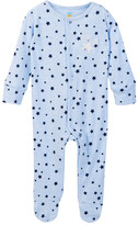 C&C California Star Printed Heather Footed Coverall (Baby Boys)
