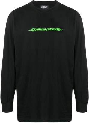 Andrea Crews logo print sweatshirt