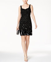 Adrianna Papell Beaded Sequined Cocktail Dress