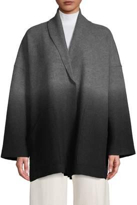 Eileen Fisher Ombre Wool Kimono Jacket
