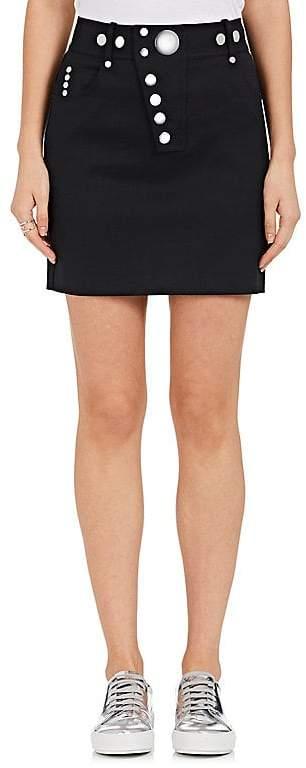 Alexander Wang Women's Embellished Stretch-Wool Miniskirt