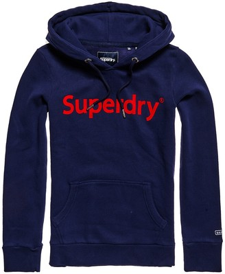 Superdry Cotton Mix Hoodie with Kangaroo Pocket and Logo