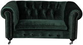 Green Claire Silver-Accent Velvet Kids Sofa