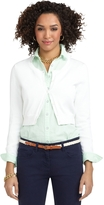 Brooks Brothers Cropped Jersey Cardigan