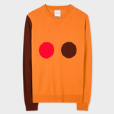 Paul Smith Women's Burnt Orange Cashmere 'Circle' Intarsia Sweater