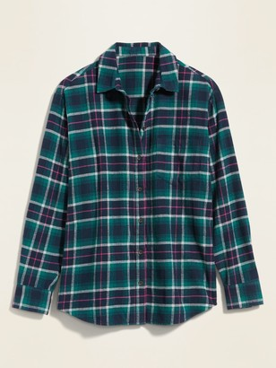 Old Navy Plaid Flannel Long-Sleeve Shirt for Women