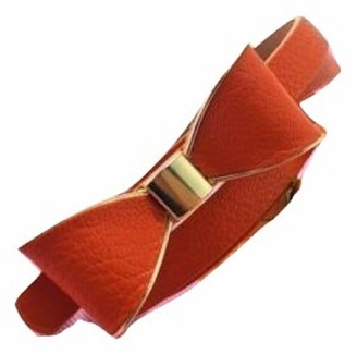 Ll L&L Girls Ladies Bow Bowknot Candy Colour Skinny Leather Waist Buckle Belt UK (Red)