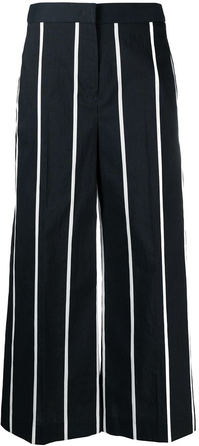 Pt01 Striped Palazzo Trousers