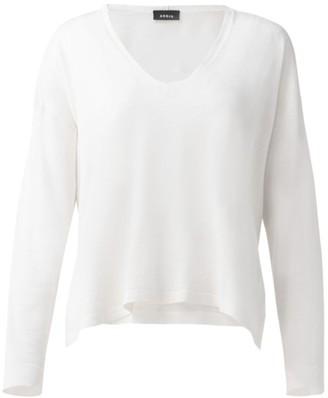 Akris Silk & Linen Knit Pullover Sweater