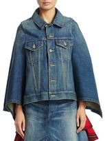 Junya Watanabe Cotton Denim Cape Jacket