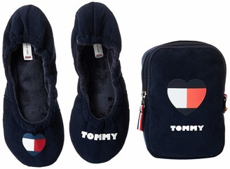 Tommy Hilfiger Women's Tommy Heart Travel Pack Low-Top Slippers