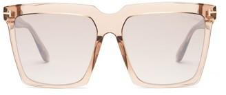 Tom Ford Sabrina Square Acetate Sunglasses - Clear