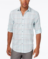 Alfani Men's Concord Plaid Long-Sleeve Shirt, Classic Fit