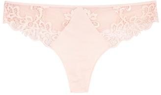 Simone Perele Saga pink lace-trimmed thong