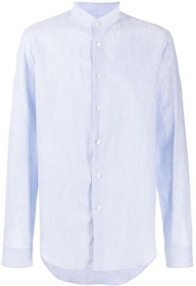 Dell'oglio Mandarin Collar Long-Sleeved Shirt